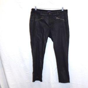 NYDJ Black Zip Pocket Ankle Leggings Jeans 18